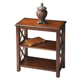 Butler Specialty Plantation Cherry 22-in W x 25-in H x 12-in D 2-Shelf Bookcase