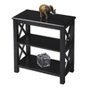 Butler Specialty Masterpiece Black Licorice 25-in 2-Shelf Bookcase