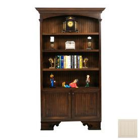 Eagle Industries American Premiere Soft White 89.25-in 4-Shelf Bookcase