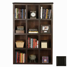 Eagle Industries Coastal Antique Black 55.5-in 12-Shelf Bookcase