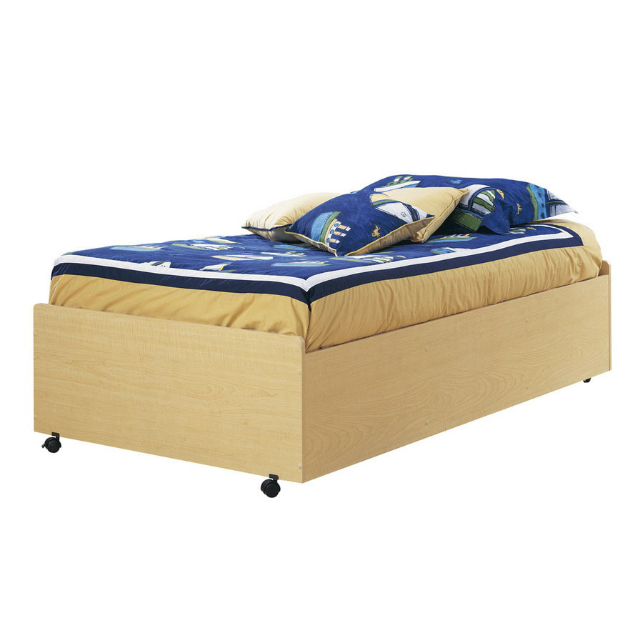 Shop south shore furniture popular natural maple twin platform bed at - Bed casters lowes ...