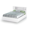 South Shore Furniture Vito Pure White Queen Platform Bed with Storage