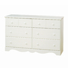 South Shore Furniture Summer Breeze White Wash 6-Drawer Dresser