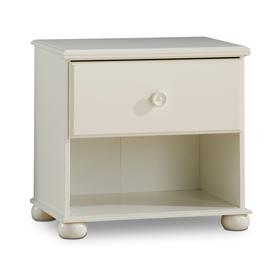 South Shore Furniture Sand Castle Pure White Nightstand
