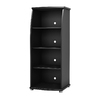 South Shore Furniture City Life Solid Black 51-in 4-Shelf Bookcase