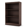 South Shore Furniture Chocolate 45-in 3-Shelf Bookcase