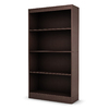 South Shore Furniture Chocolate 58-in 4-Shelf Bookcase