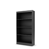 South Shore Furniture Solid Black 58-in 4-Shelf Bookcase