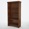 South Shore Furniture Gascony Sumptuous Cherry 58.12-in 4-Shelf Bookcase