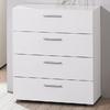 Tvilum Austin White 4-Drawer Dresser