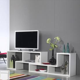 Tvilum Stewart White 76.75-in W x 26-in H x 15.75-in D 6-Shelf Bookcase