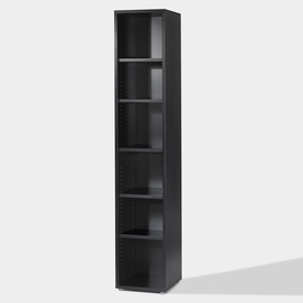 Tvilum Fairfax Black 87.25-in 6-Shelf Bookcase