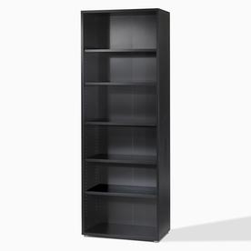 Tvilum Fairfax Black 87-1/4-in 5-Shelf Bookcase