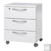 Tvilum Cullen White 3-Drawer Filing Cabinet