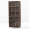 Tvilum Cullen Walnut 75-in 5-Shelf Bookcase