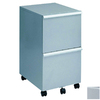 New Spec Silver 2-Drawer Filing Cabinet