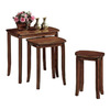Monarch Specialties Walnut Accent Table Set