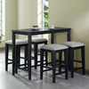 Monarch Specialties Black Grain Dining Set