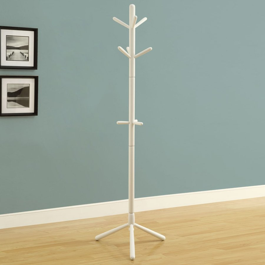 Shop Monarch Specialties White 9 Hook Coat Stand At Lowes