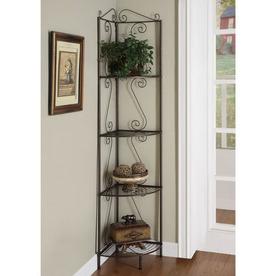 Monarch Specialties Copper 20-in W x 70.5-in H x 15-in D 4-Shelf Bookcase