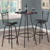Monarch Specialties Charcoal Dining Set