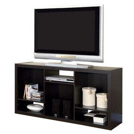 Monarch Specialties Cappuccino 56-in W x 27-in H x 15-in D 6-Shelf Bookcase