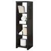 Monarch Specialties Cappuccino 17-in W x 62.5-in H x 15.75-in D 4-Shelf Bookcase