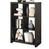 Monarch Specialties Cappuccino 48-in 6-Shelf Bookcase