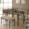 Monarch Specialties Bronze Dining Set
