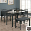Monarch Specialties Charcoal Grey Dining Set