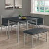 Monarch Specialties Black Dining Set