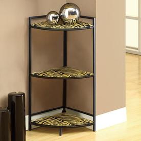 Monarch Specialties Black 13.75-in W x 30-in H x 12.66-in D 3-Shelf Bookcase