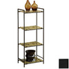 Monarch Specialties Black 42.75-in 4-Shelf Bookcase