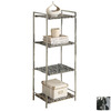 Monarch Specialties Chrome 42.75-in 4-Shelf Bookcase