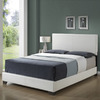 Monarch Specialties White Queen Low-Profile Bed