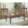 Monarch Specialties Walnut Birch Accent Table Set