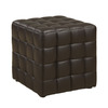 Monarch Specialties Dark Brown Square Ottoman