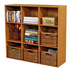 Venture Horizon Oak 39-in W x 36-in H x 11.5-in D 9-Shelf Bookcase