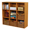 Venture Horizon Oak 39-in W x 36-in H x 11.5-in D 9-Shelf Bookcase