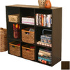 Venture Horizon Dark Walnut 36-in 9-Shelf Bookcase