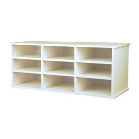 Venture Horizon White 31-in W x 13-in H x 12-in D 9-Shelf Bookcase