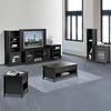 Nexera Tuxedo Black 15.75-in W x 60-in H x 13.75-in D 5-Shelf Bookcase