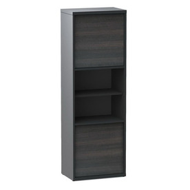 Nexera Sereni-T Ebony/Black 18.88-in W x 56-in H x 11.88-in D 6-Shelf Bookcase