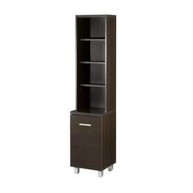 Nexera Element Espresso 60-1/2-in 6-Shelf Bookcase