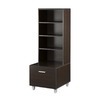 Nexera Element Espresso 52.5-in 6-Shelf Bookcase