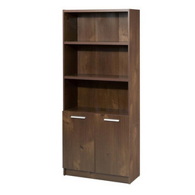 Nexera Aero Lite Truffle 71.5-in 5-Shelf Bookcase