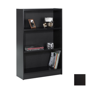 Nexera Essentials Black 48-in 3-Shelf Bookcase