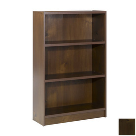 Nexera Essentials Truffle 48-in 3-Shelf Bookcase
