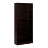 Nexera Essentials Espresso 71.5-in 5-Shelf Bookcase