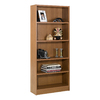 Nexera Essentials Cappuccino 71.5-in 5-Shelf Bookcase